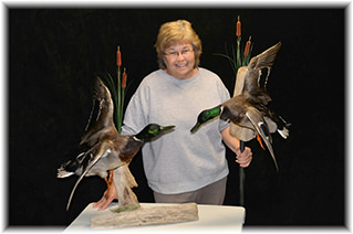 Denise Christian with Mallard Mounts